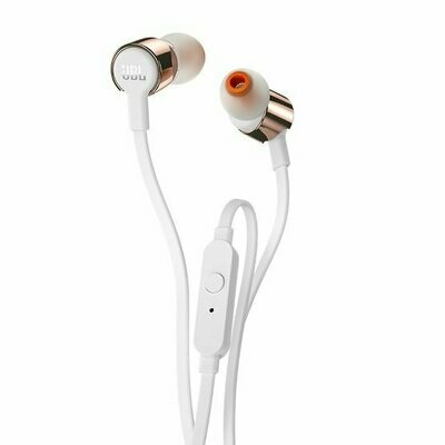 JBL T210 In-Ear Headphones with Mic, Rose Gold