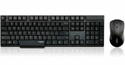 Rapoo 1830 Wireless Keyboard Mouse, Black