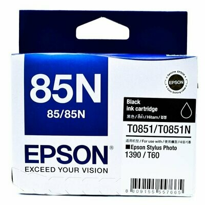 Epson 85N Ink Cartridge, Black
