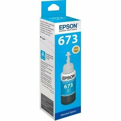 Epson ink Bottle, 673, Cyan, for l800, l805, l810, l850, l1800