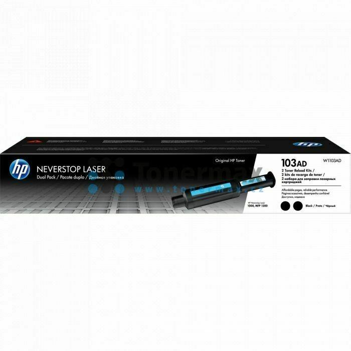 HP 103AD Dual Pack Neverstop Laser Toner Reload Kit, Black