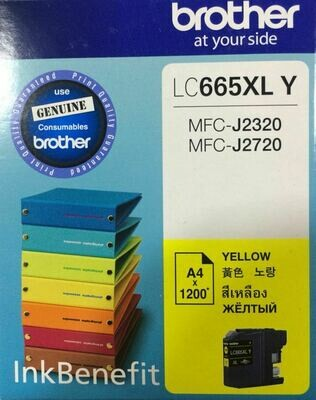 Brother LC665XL Ink Cartridge, Yellow