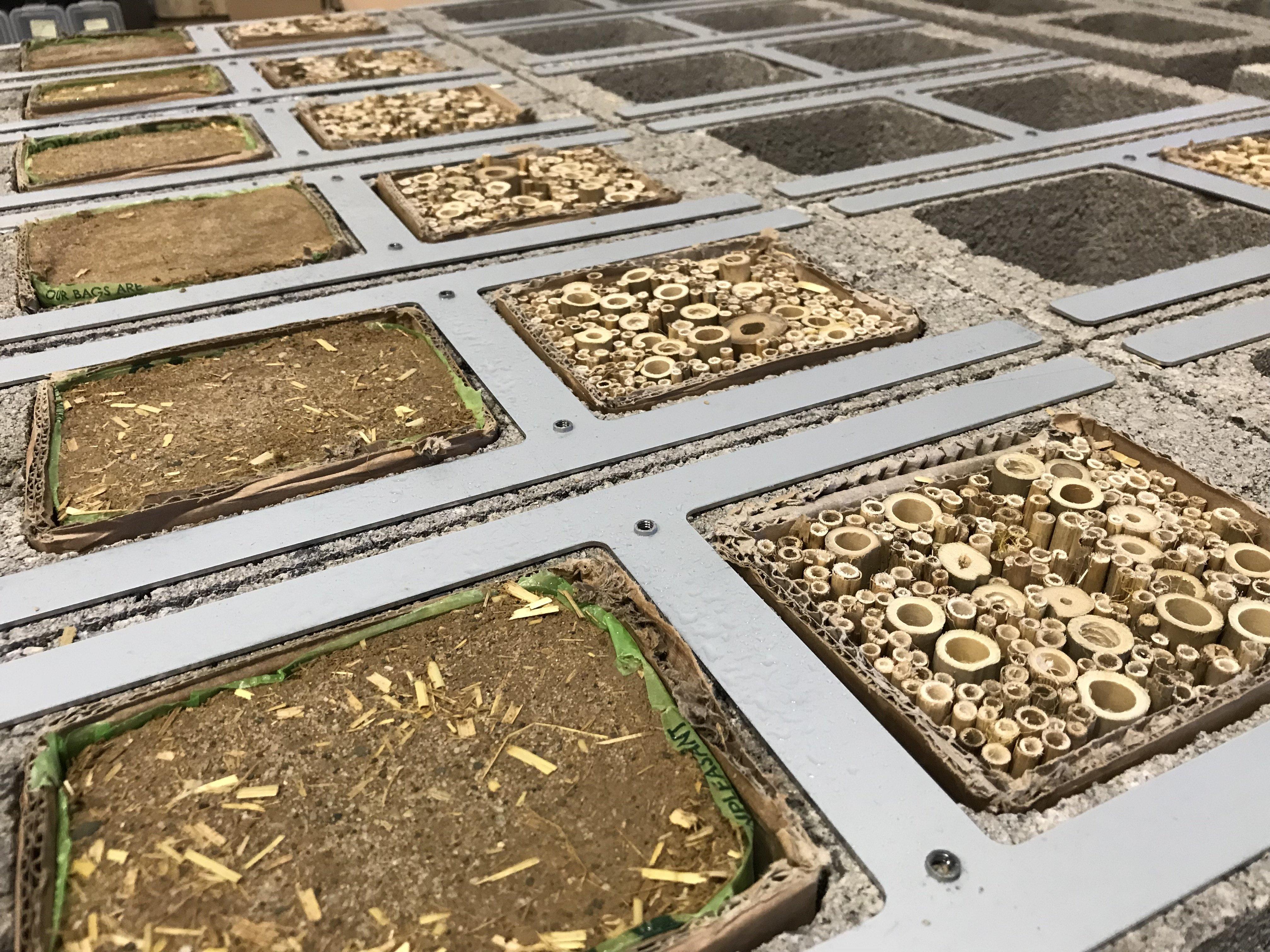Buginn | Bijenhotel - Vervangende kern Leem