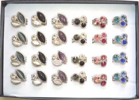 Fingerringe / Bagues / Rings Swarovski Elements