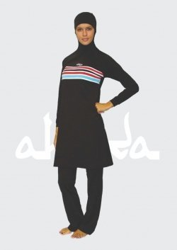 Ahiida® Burqini® Modest Fit Black Stripes