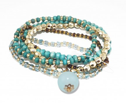 Bracelet multiple turquoise