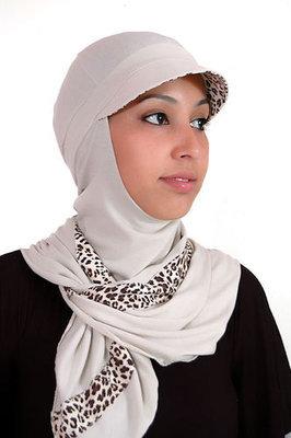 Modiste Hijab Iman Beige Animal Print
