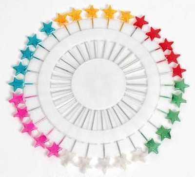 Farbige Nadeln in Sternform, Epingles en forme d'étoile, star pins