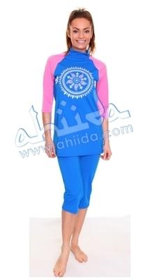 Ahiida® Sun Safe Blue Pink Aztec