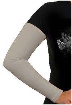 Aermel, Baumwolle, hellgrau / Manches cotton, gris clair / Sleeves, cotton light grey