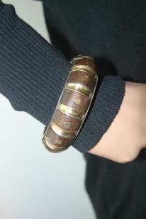 Bracelet Bois - or