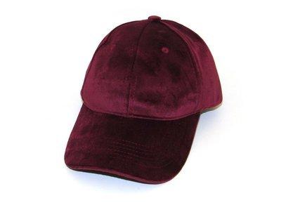 Mütze, Casquette, Cap Bordeaux  Velours/Samt
