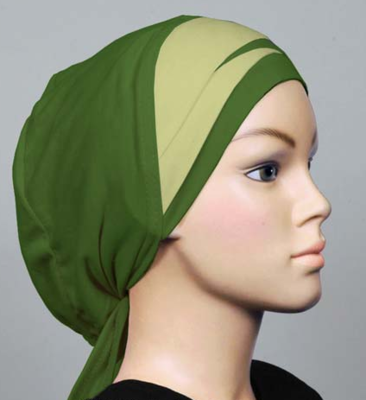 Bonnet bicolore green