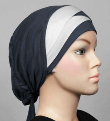 Bonnet bicolore grau - dark grey