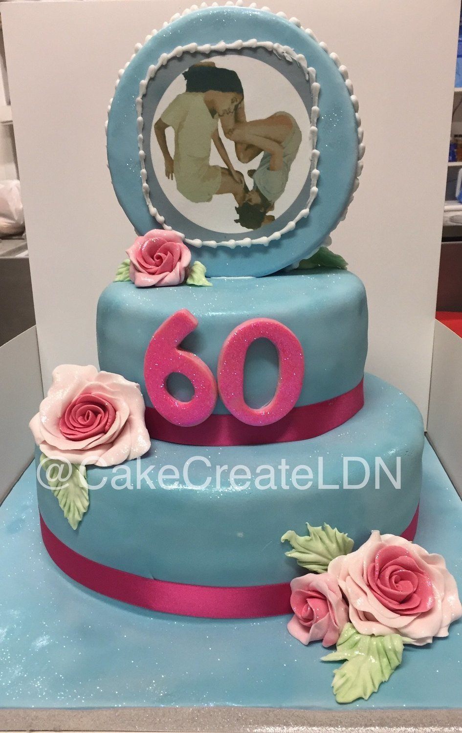 Fabulous 60Th Birthday Cake Personalised Birthday Cards Paralily Jamesorg