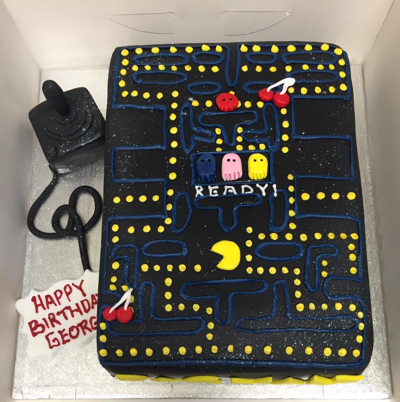 Pleasing Pacman Cake Funny Birthday Cards Online Alyptdamsfinfo