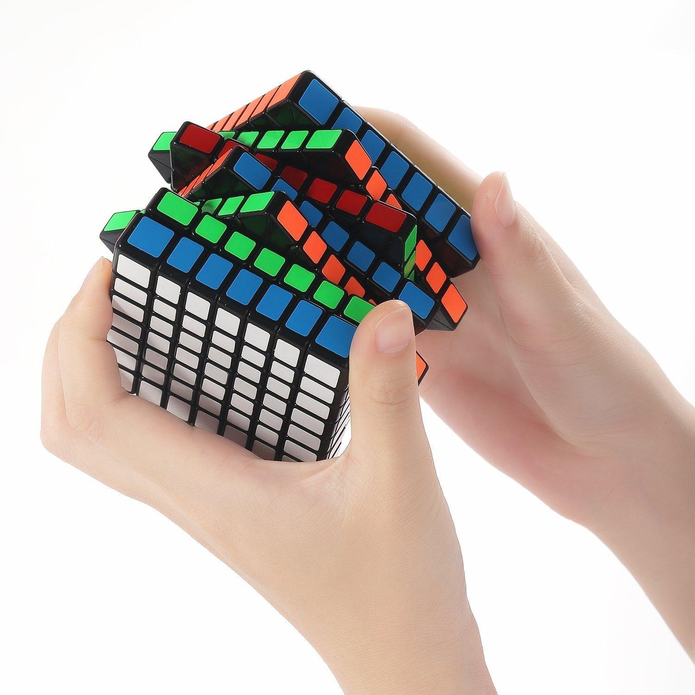 ShengShou 7x7x7  7.5cm Cube White Twisty Magic Puzzle