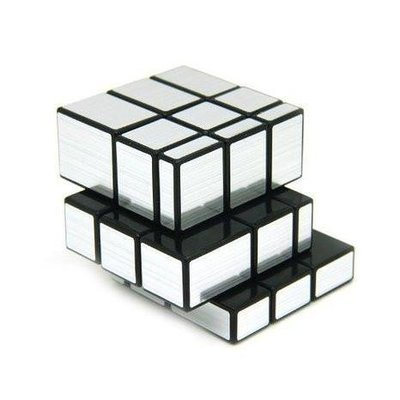 3x3x3 Mirror Speed Cube Puzzle  Silver