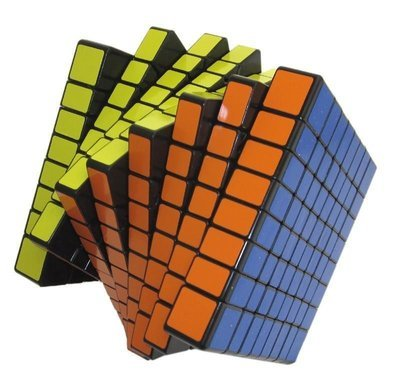 ShengShou® 8x8x8 8cm Black Twisty Speed Cube Puzzle-Speed Cube