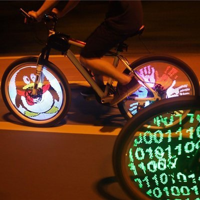 DIY 128 RGB LED Programmable Bicycle Spokes Lights Waterproof