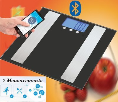 Bluetooth Smart Body Fat Scale - Mobile App Measures Weight/BMI/BodyFat/Water/Muscle/Bone