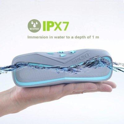 Waterproof IPX7 Sport Portable Bluetooth Outdoor Speaker with Mic