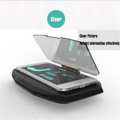 Heads Up Display GPS Car HUD Holder Universal Smart Mobile Phone Mounts Navigation Bracket
