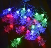 LED X'Mas Tree String Fairy Light, Indoor, Outdoor, Garden Attachable (2 Pcs)