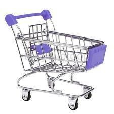 Miniature Supermarket Shopping Hand Cart - Best for Table Display, Pen Mobile Holder