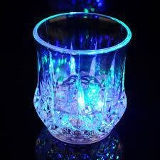 Rainbow Color Cup - LED Color Flashing Water Beer Drink Cup (2 Pcs)