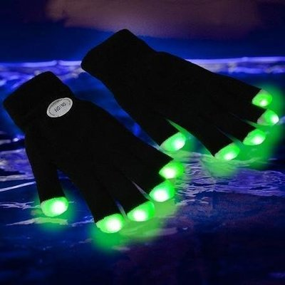 LED Party Gloves 6 Colors Light Show Gloves for Dance Party, Rave, Birthday, Disco