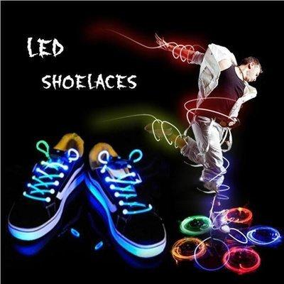 LED Flashing Light Up Shoelaces Glow Shoe String (Multi-color)