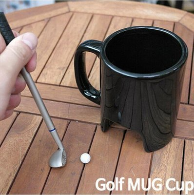 Executive Table Top Office Golf Mug with Club Shaped Pen.