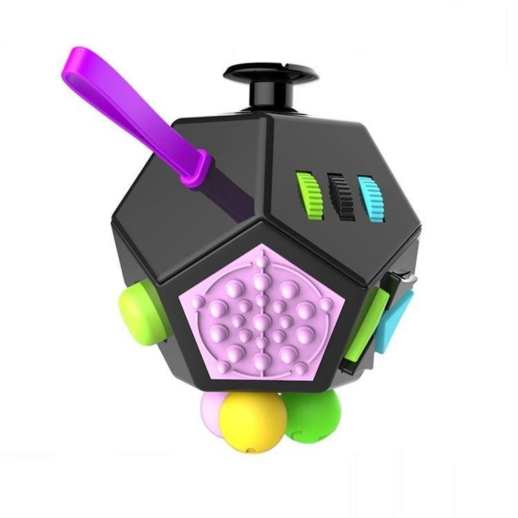 12-Side Fidget Cube Toy - Relieves Stress