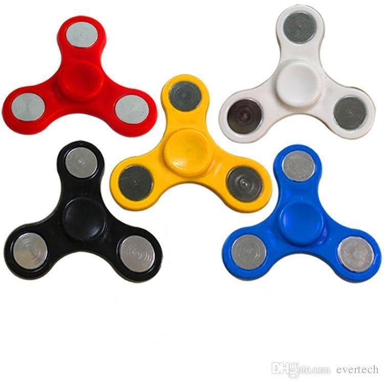 Colorful Basic Fidget Spinner Plastic  Toy (4 pcs)