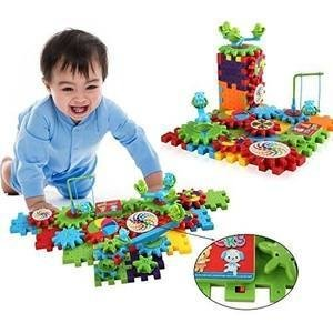 81 PCS Funny Electric Motorized Movable Brick Gear Building Toy Set - Interlocking Blocks