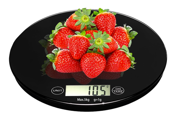 5kg Digital Food Kitchen Scale, Perfect for Baking Kitchen Cooking, Tempered Glass