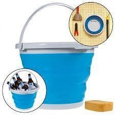 Foldable Silicone Collapsible Bucket Multi Purpose 7 Ltr
