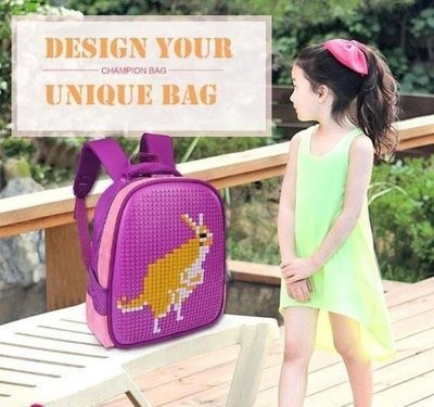 DIY Building Blocks Toy Jigsaw Puzzle Carry  Bag - Children Pixel Schoolbag