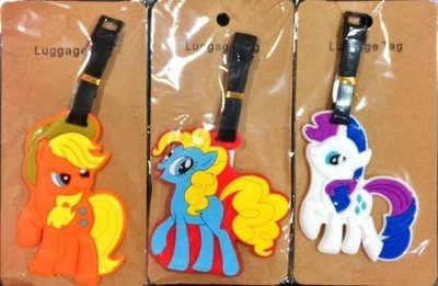 2 Pcs PVC  Luggage Tags 3D Design