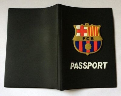 FC Barcelona Football Team - Passport Cover Wallet - Doc Holder Bag