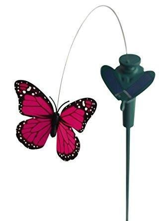 Solar Yard Stake Fluttering Butterfly, Solar or Battery - Garden Toys