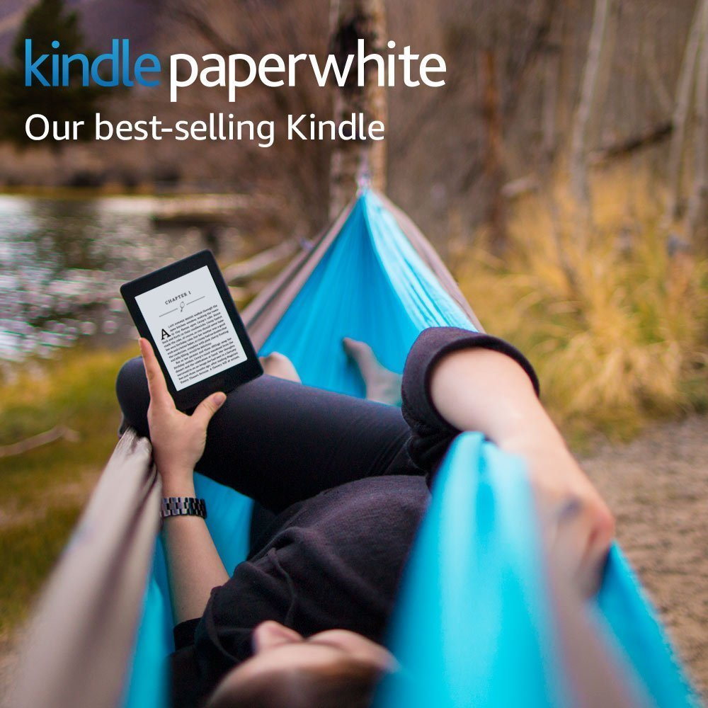 """Amazon Kindle Paperwhite E-reader - Black, 6"""" High-Resolution Display (300 ppi) with Built-in Light, Wi-Fi"""