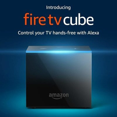 Fire TV Cube, hands-free with Alexa and 4K Ultra HD with Alexa Voice Remote