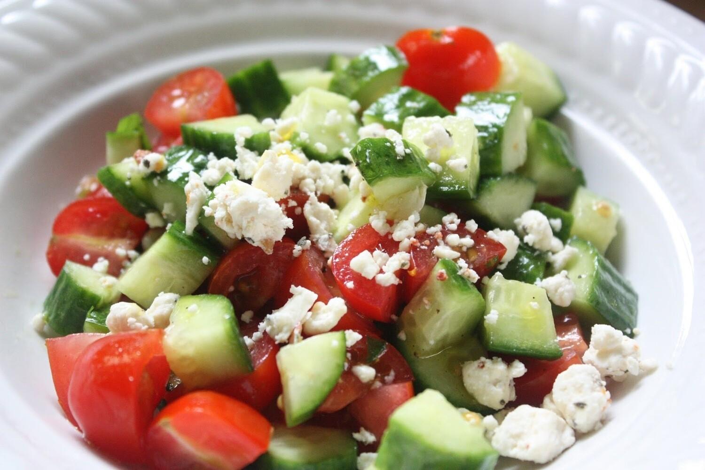 Tomato-Cucumber-Feta Salad (1 pt)