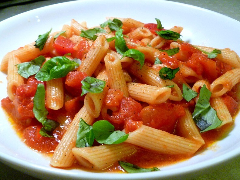 Chicken-less Arrabiata with Penne Pasta