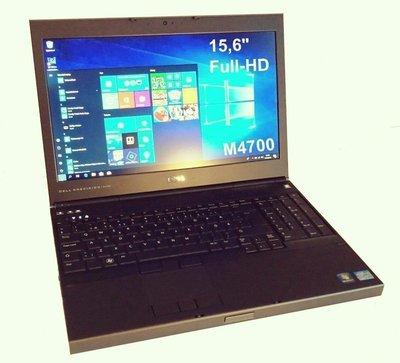 Dell Precision M4700 Core i7 3rd gen (Grade A-/B) Erillinen Nvidia Quadro näytönohjain. Full HD-näyttö ja 120gb SSD