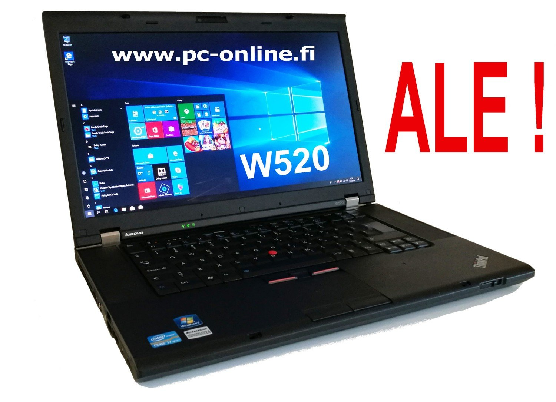 Lenovo W520  Core i7 (B-Grade) Erillisellä näytönohjaimella ja SSD-levyllä