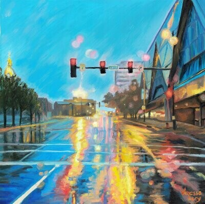 Wet Streets by Bartle Hall