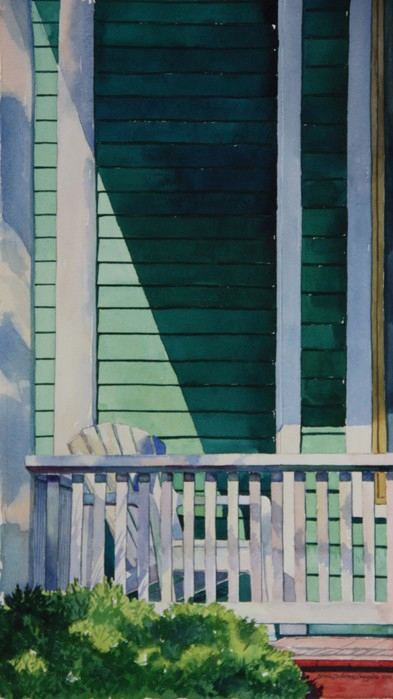 "Colleen Gregoire ""Summer Shadow Green Porch"" 00281"